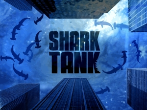 shark tank with logo
