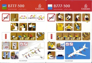flight safety card