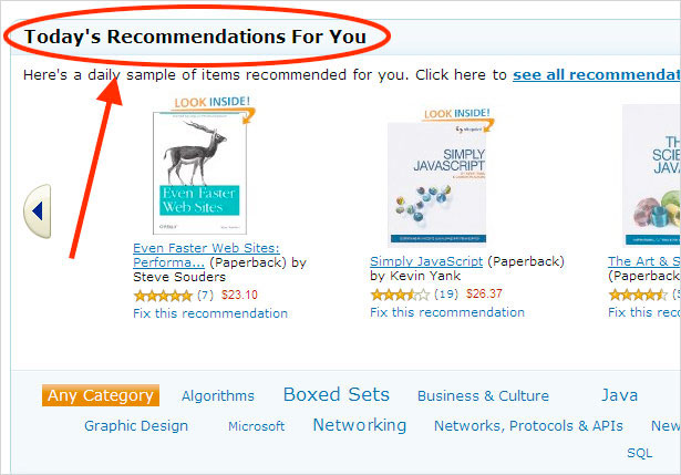 Amazon data-driven product recommendations